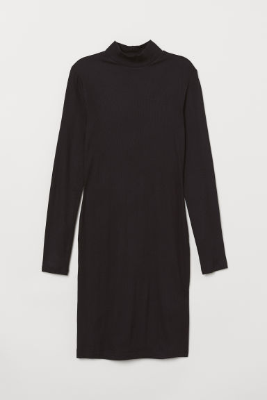Turtleneck dress - Black -  | H&M