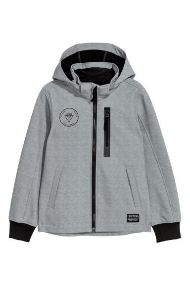 Softshell jacket - Grey marl - Kids | H&M CN