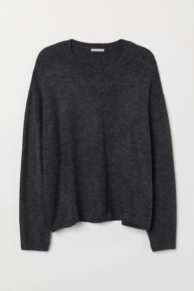 H&M+ Knit Sweater - Dark gray - Ladies | H&M US