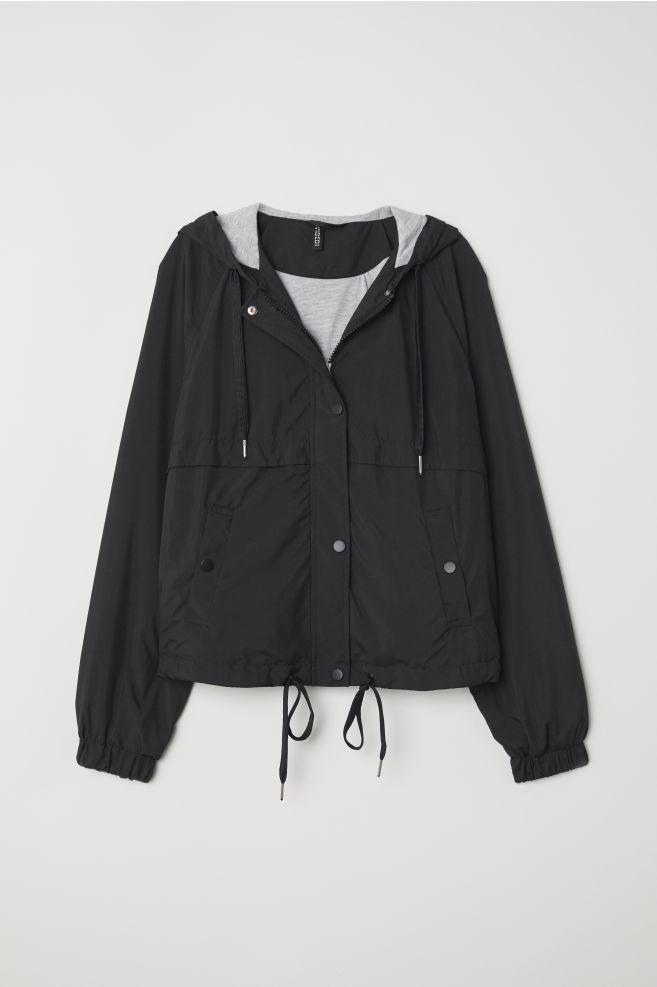 96dfbd9146d1 Hooded jacket - Black - | H&M ...
