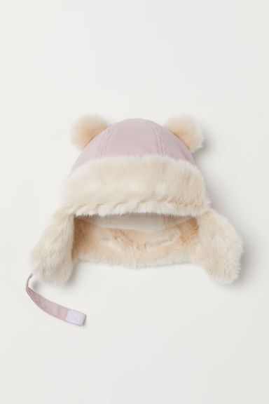 Fleece-lined hat - Light pink - Kids | H&M CN
