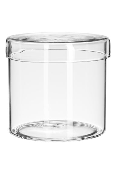 Glass box with a lid - Clear glass -  | H&M CN
