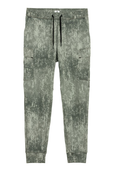 Sports trousers with pockets - Green/Patterned -  | H&M CN
