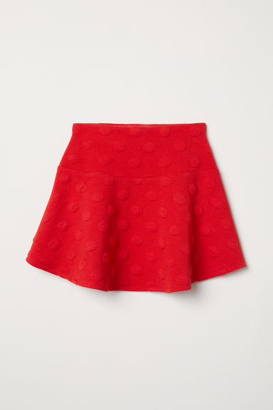 Jersey skirt with a flounce - Bright red - Kids | H&M CN