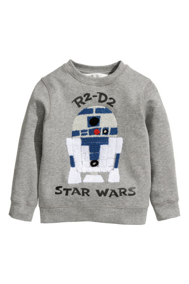 Printed sweatshirt - Grey/Star Wars - Kids | H&M GB