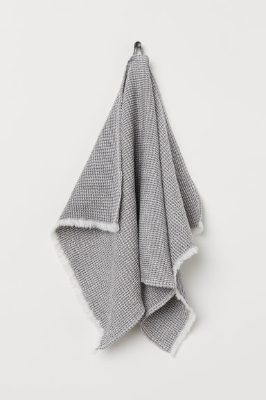 Waffled hand towel - Grey/White - Home All | H&M GB