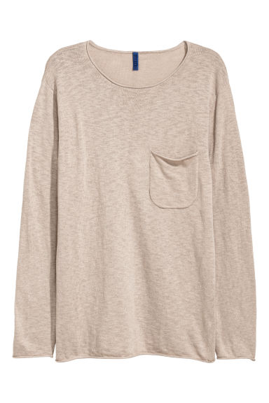 Fine-knit jumper - Light mole - Men | H&M