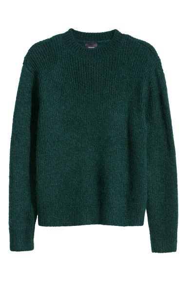 Mohair-blend jumper - Dark green - Men | H&M