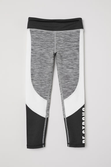 Sports tights - Dark grey/Block-coloured -  | H&M CN