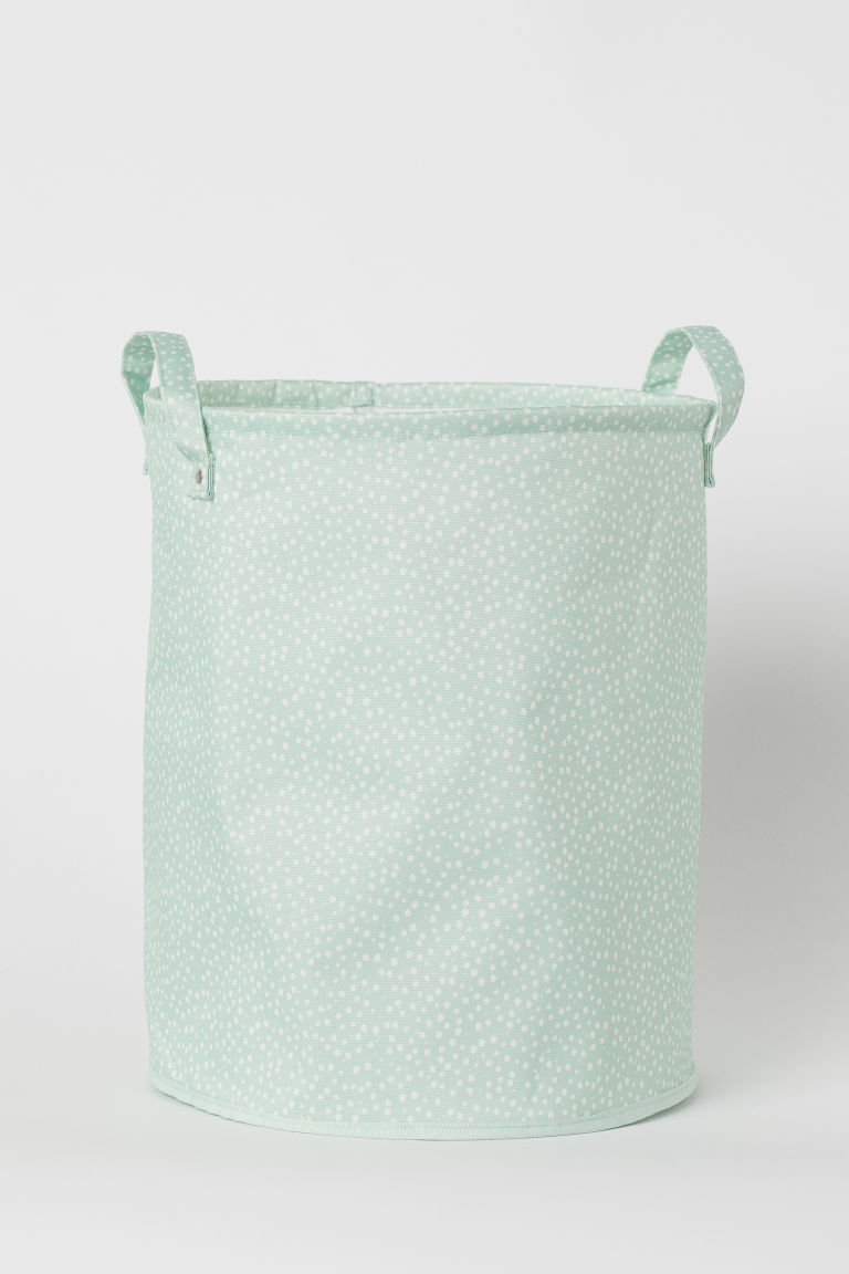 Storage basket - Light green/Spotted - Home All | H&M CN