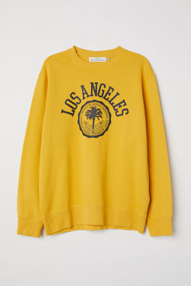 Felpa con stampa - Giallo senape/Los Angeles -  | H&M IT