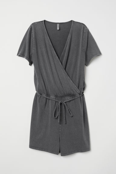 Tuta corta in jersey - Grigio scuro - DONNA | H&M IT