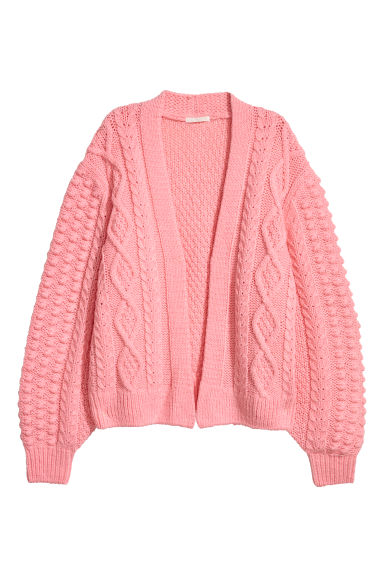 Knitted wool-blend cardigan - Light pink -  | H&M CN