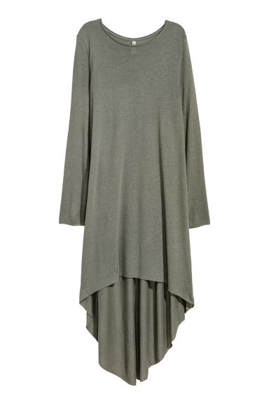 Asymmetric dress - Khaki green -  | H&M