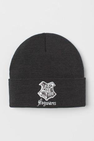 H&M 키즈 해리포터 비니 Printed Knit Hat,Dark gray