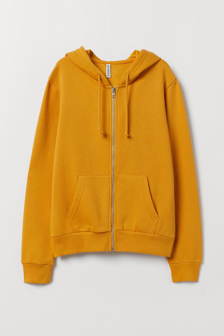 Hooded jacket - Mustard yellow -  | H&M