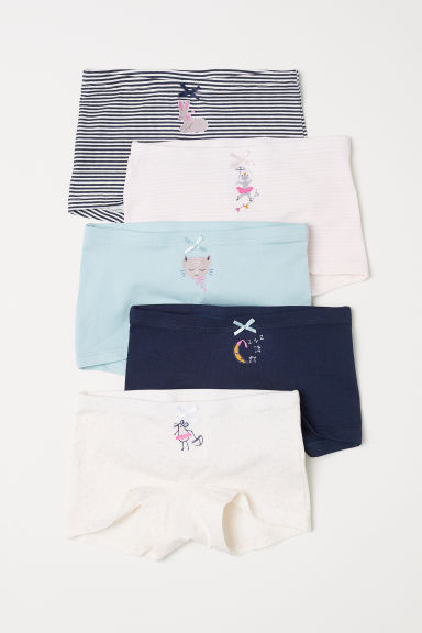 5-pack boxer briefs - Turquoise/Animals - Kids | H&M CN