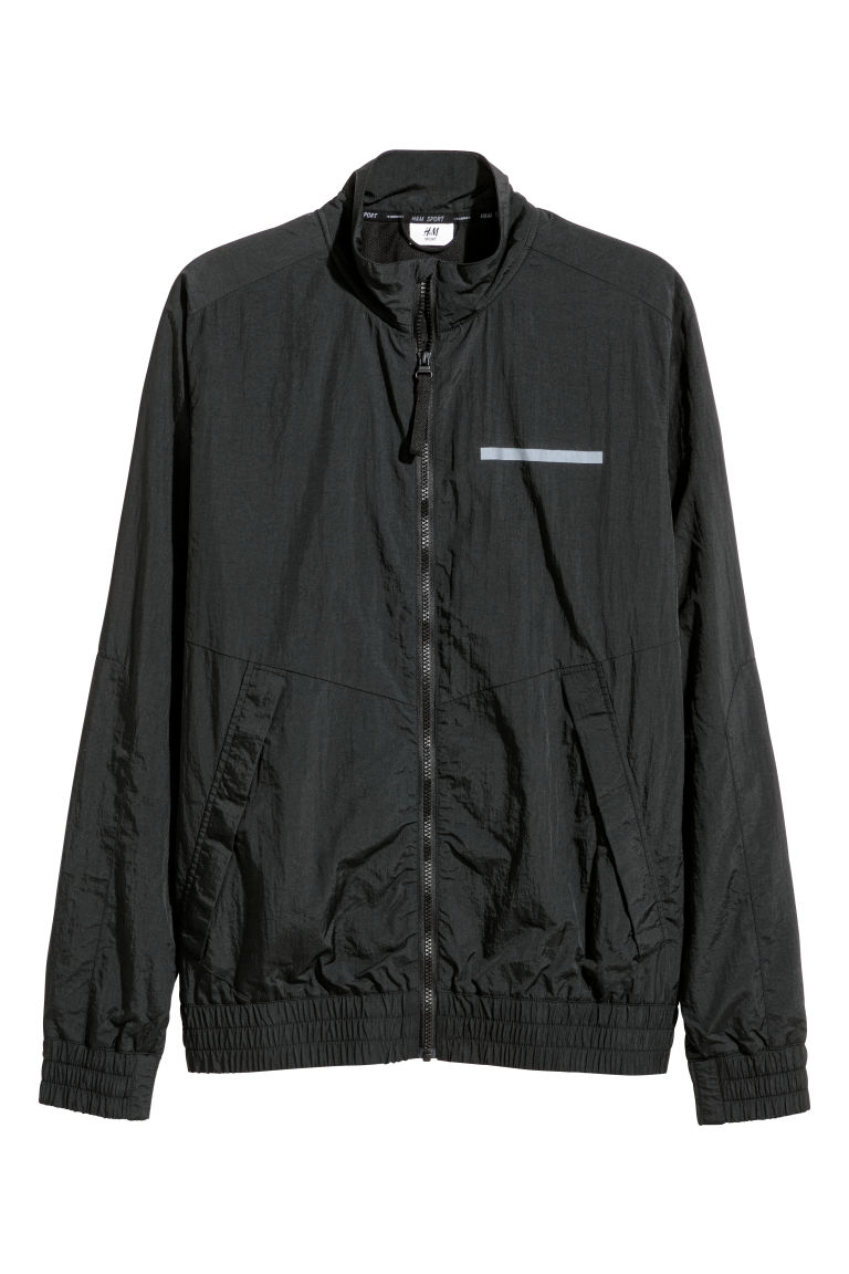 Nylon sports jacket - Black - Men | H&M