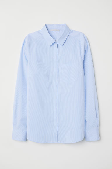 Fitted shirt - Light blue/Striped - Ladies | H&M
