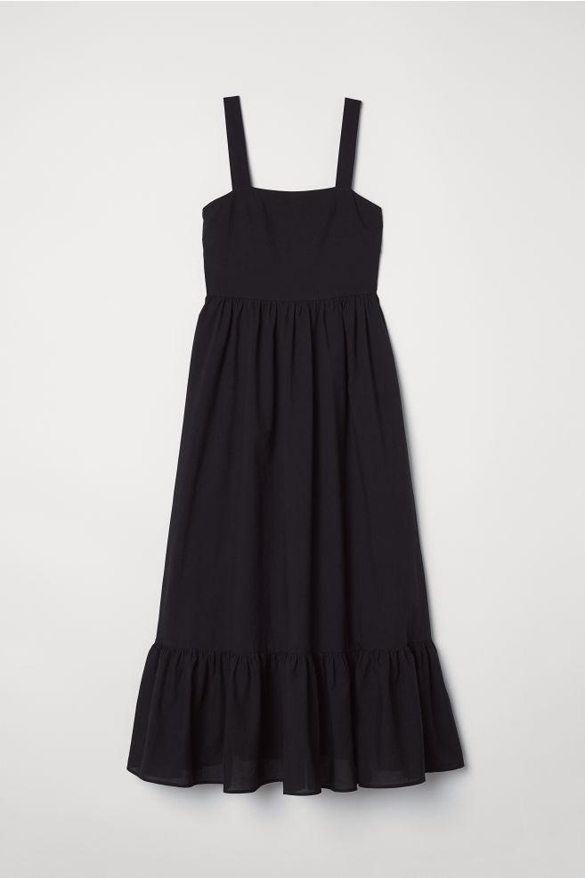 8659305ce5 Długa sukienka bawełniana - Czarny - ONA