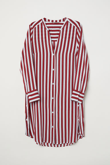 H&M+ Striped tunic - Natural white/Red striped - Ladies | H&M CN
