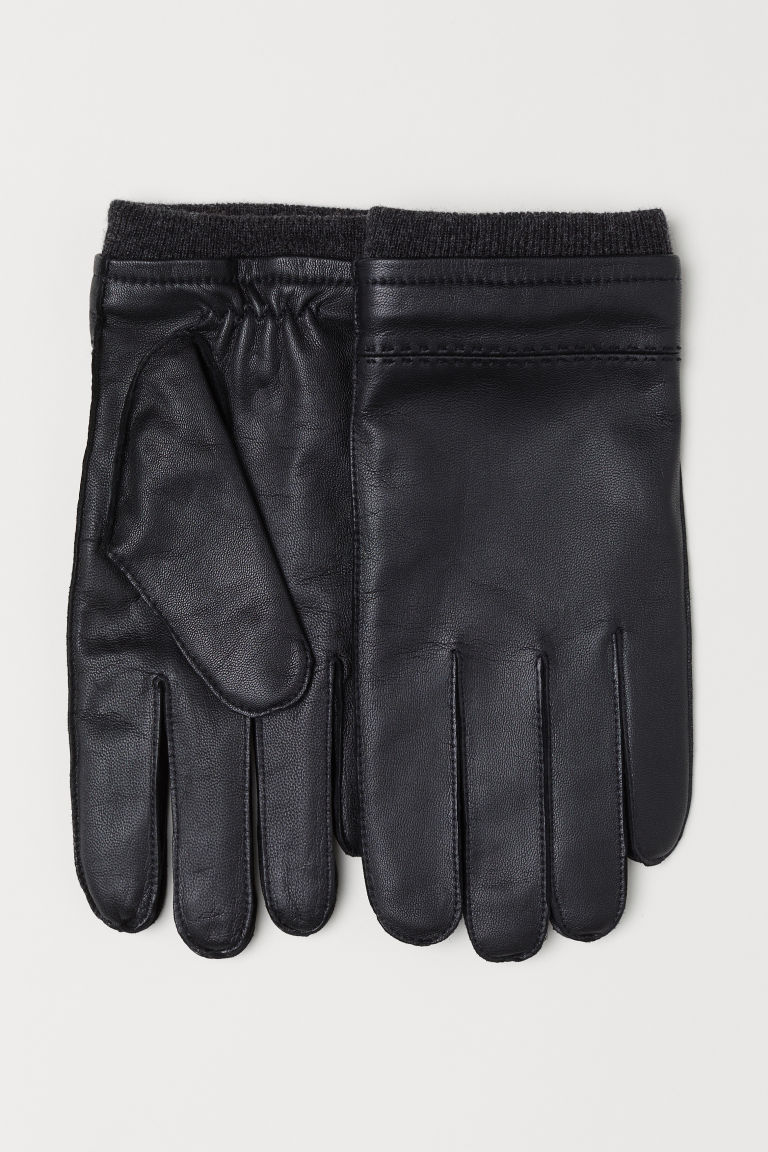 Leather gloves - Black - Men | H&M