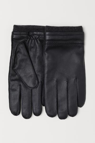 H&M - Gants en cuir - 1