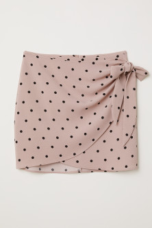 Short wrapover skirt