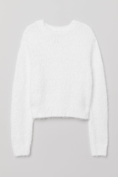 Knit Sweater - White -  | H&M CA