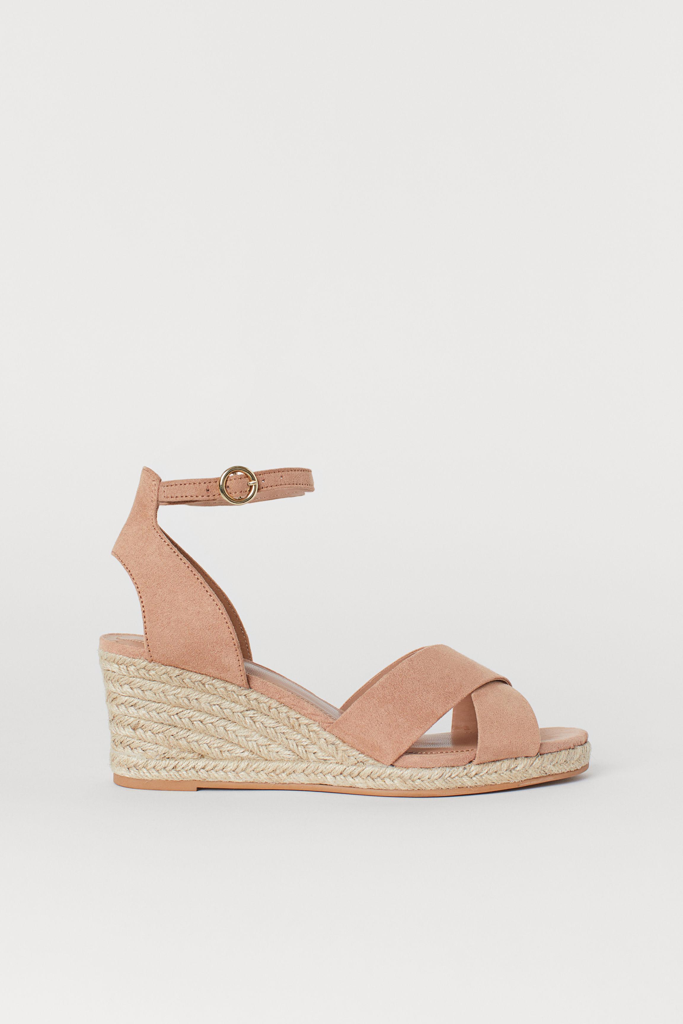 ff30ebbe1c Wedge-heel Sandals - Light beige/leopard print - Ladies | H&M US