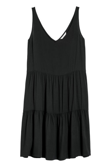 Crêpe dress - Black -  | H&M IE