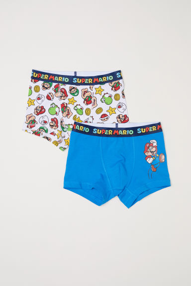 2-pack boxer shorts - Bright blue/Super Mario - Kids | H&M