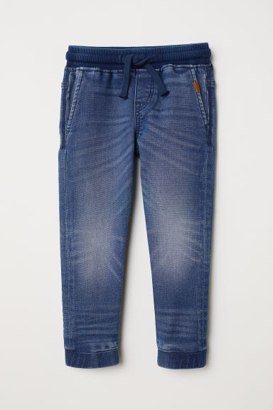 Super Soft denim joggers - Denim blue - Kids | H&M