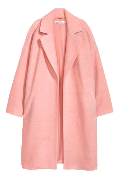 Wool-blend coat - Light pink - Ladies | H&M CN