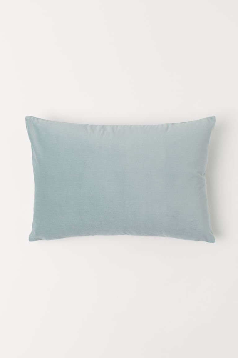Cotton velvet cushion cover - Turquoise - Home All | H&M CN