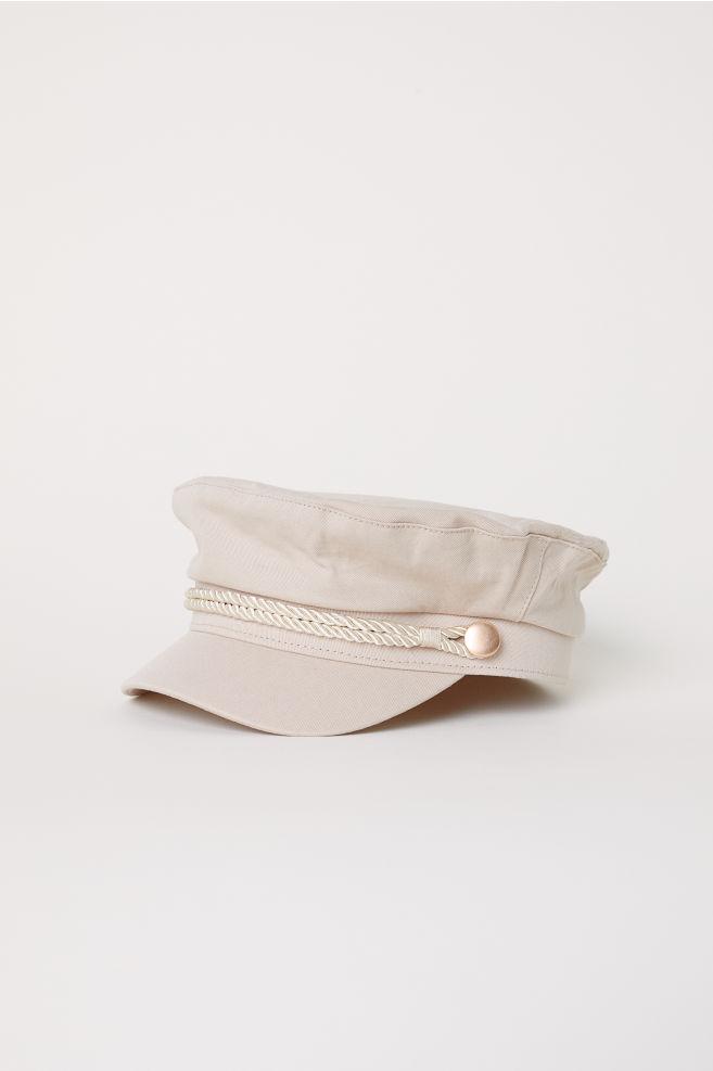 b4eaccbce Boné náutico em algodão - Bege pó - SENHORA | H&M ...
