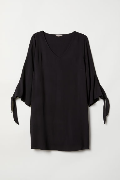 H&M+ V-neck dress - Black - Ladies | H&M CN