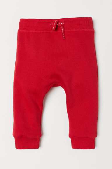 Cotton Joggers - Red - Kids | H&M US