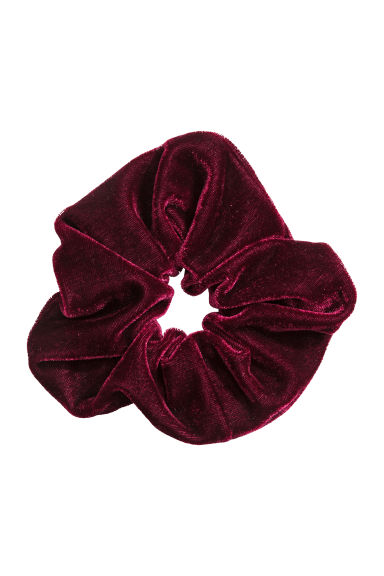 Large velour scrunchie - Burgundy - Ladies | H&M IE