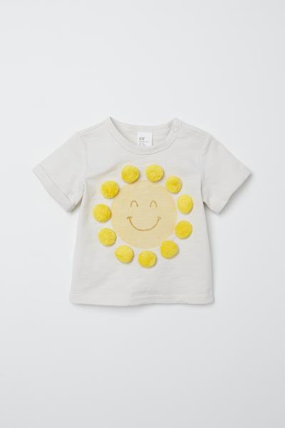 H&M - Camiseta con pompones - 1