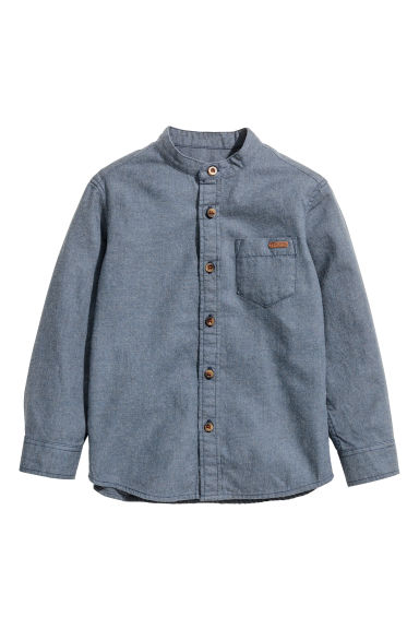 Cotton shirt - Grey-blue - Kids | H&M CN