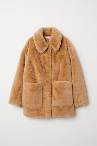 Faux fur jacket - Beige - Ladies | H&M
