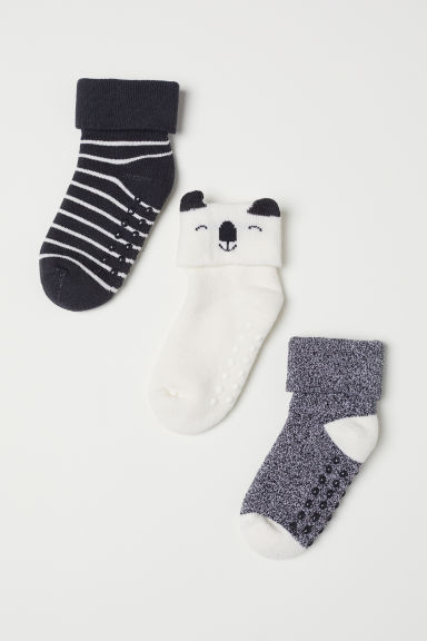 3-pack socks - Black/Multicoloured - Kids | H&M