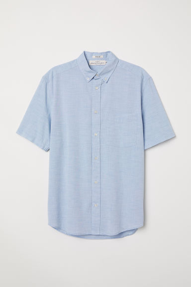 Camicia popeline Regular fit - Azzurro - UOMO | H&M IT