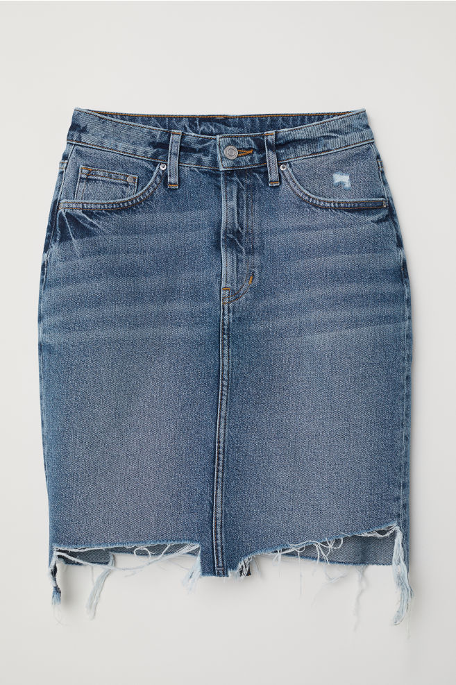 445fcdabf9 ... Denim Skirt - Denim blue - | H&M ...