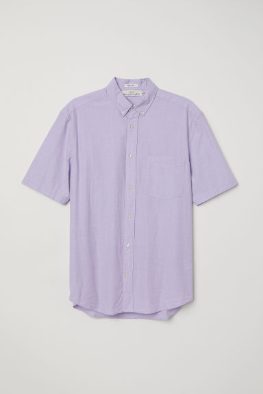 Camicia popeline Regular fit - Viola chiaro - UOMO | H&M IT