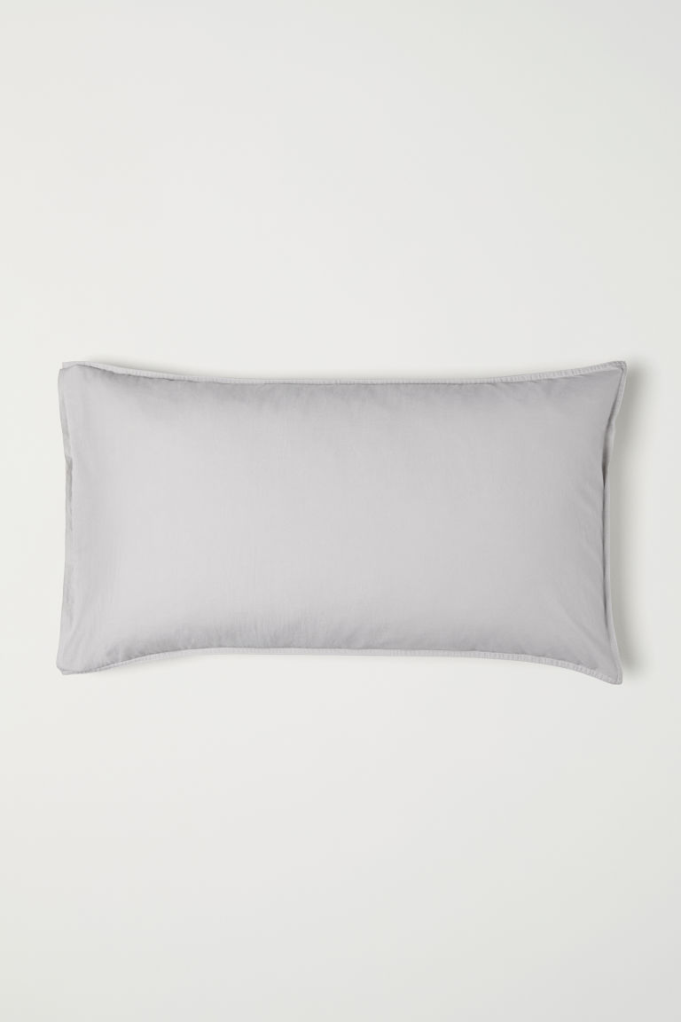 Washed cotton pillowcase - Light mole - Home All | H&M CN
