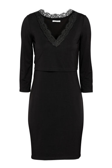 MAMA Nursing dress - Black -  | H&M