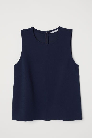 Sleeveless jersey top - Dark blue - Ladies | H&M