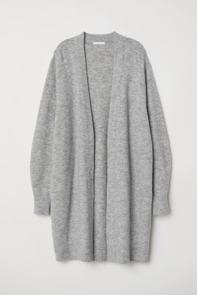 Long cardigan - Light grey marl - Ladies | H&M